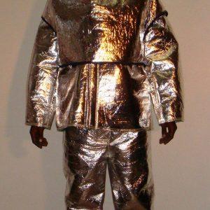 Aluminised kevlar hood jacket & trouser
