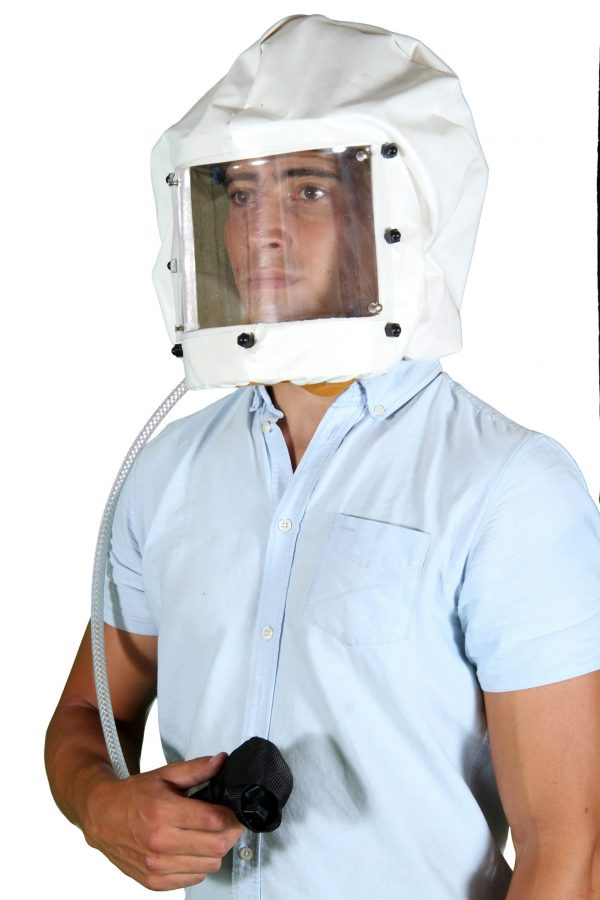Spray Hood with Replaceable Visor