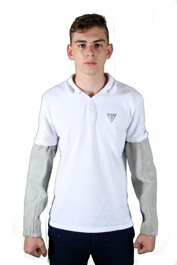 Chrome Leather Sleeves (Long)