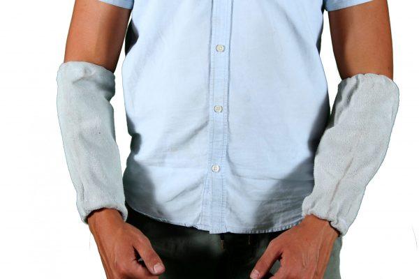 Chrome Leather Sleeves (Short)