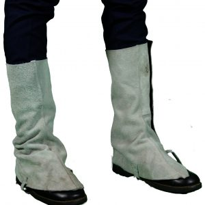 Chrome Leather Spats (Long)