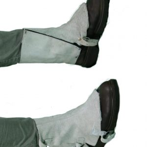 Chrome Leather Spats Buckle and Velcro (Short)