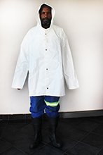 Chemical or loading jacket with hood