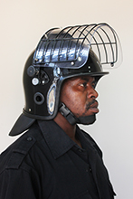 Deluxe helmet with grid _ 4 position visor adjustment