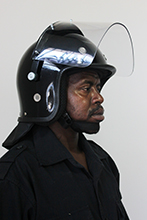 Deluxe helmet with padded ear_mesh eyelets.
