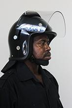 Deluxe helmet with padded ear_mesh eyelets.
