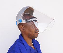Fibreglass browguard with 3mm visor