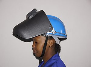 Safety cap welding helmet combo